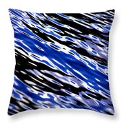 Blue Current Throw Pillow