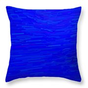 Blue Currents Throw Pillow