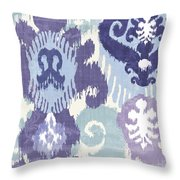Blue Curry I Throw Pillow by Mindy Sommers