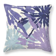Blue Curry II Throw Pillow