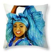 Blue Dancer  Throw Pillow