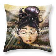 Blue Danube Acoustic  Throw Pillow