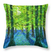 Blue Dawn Throw Pillow