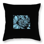 Blue Deep Hole Throw Pillow by Donna Bentley