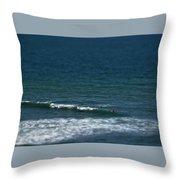 Blue Deep Throw Pillow