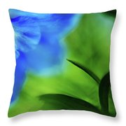Blue Delphinium Throw Pillow