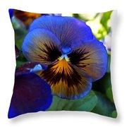 Blue Delta Throw Pillow