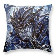 Blue Demon Throw Pillow