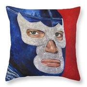 Blue Demon Jr Throw Pillow