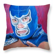 Blue Demon Throw Pillow