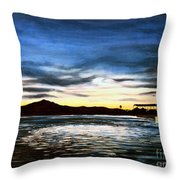 Blue Diablo Throw Pillow