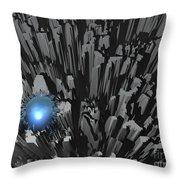 Blue Diamond In The Rough Throw Pillow
