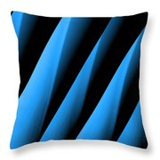 Blue Directions Throw Pillow