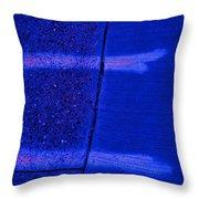 Blue Divide Throw Pillow