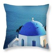 Blue Dome Throw Pillow