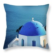 Blue Dome Throw Pillow