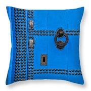 Blue Door Accents Throw Pillow