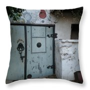 Blue Door Throw Pillow by Sheep McTavish