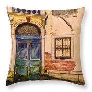 Blue Door Venice Throw Pillow
