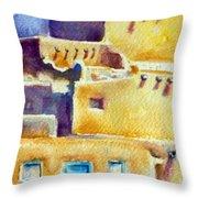 Blue Doors Of The Taos Pueblo Throw Pillow