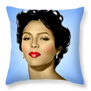 Blue Dorothy Throw Pillow