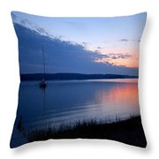 Blue Downtime Throw Pillow
