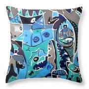 Blue Dream Throw Pillow by Tyler Schmeling