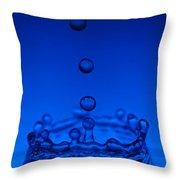 Blue Drop Throw Pillow