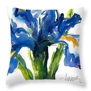 Blue Dutch Iris For Kappa Kappa Gamma Throw Pillow