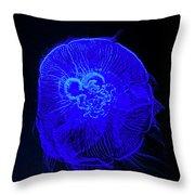 Blue Energy - Jellyfish Throw Pillow