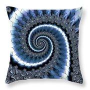 Blue Escheresque Throw Pillow