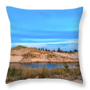 Blue Evening In Ludington State Park Throw Pillow