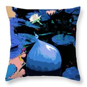 Blue Evening On The Pond Throw Pillow