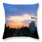 Blue Evening Sky Throw Pillow
