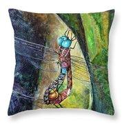 Blue-eyed Darner Mating Wheel Throw Pillow