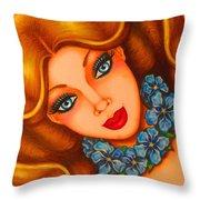 Blue Eyes 3 Throw Pillow
