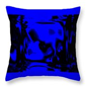 Blue Fashion Throw Pillow