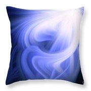 Blue Fiber 0610 Throw Pillow