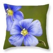 Blue Flax #2 Throw Pillow