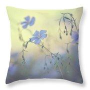 Blue Flex Flower. Nostalgic Throw Pillow