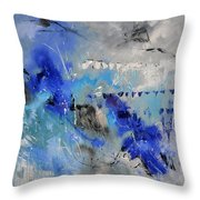 Blue Flight Abstract Throw Pillow