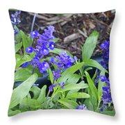Blue Flower B6 Throw Pillow