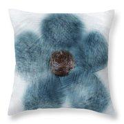 Blue Flower Cloud Throw Pillow