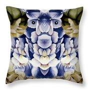 Blue Flower King Throw Pillow
