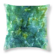 Blue Flower Throw Pillow