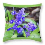 Blue Flowers B4 Throw Pillow