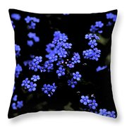 Blue Flowers Floating Throw Pillow