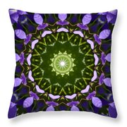 Blue Flowers Kaleidoscope Throw Pillow