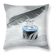 Blue Fly  Throw Pillow