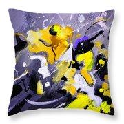 Blue Galactic Motion Throw Pillow
